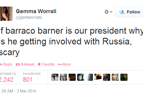 Is this the worst ever spelling of Barack Obama? Twitter mauls user for 'Barraco Barner' attempt