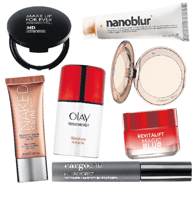 Skin blur products from Nanoblur, Charlotte Tilbury and Olay (Picture: supplied)