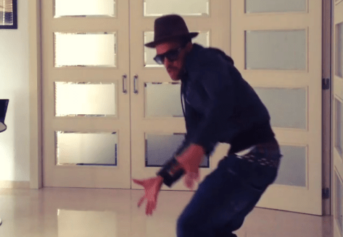 Dani Alves celebrates beating Manchester City by showing off dance moves
