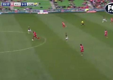 Australian A-League player Orlando Engelaar scores amazing halfway-line goal to rival Wayne Rooney's – video