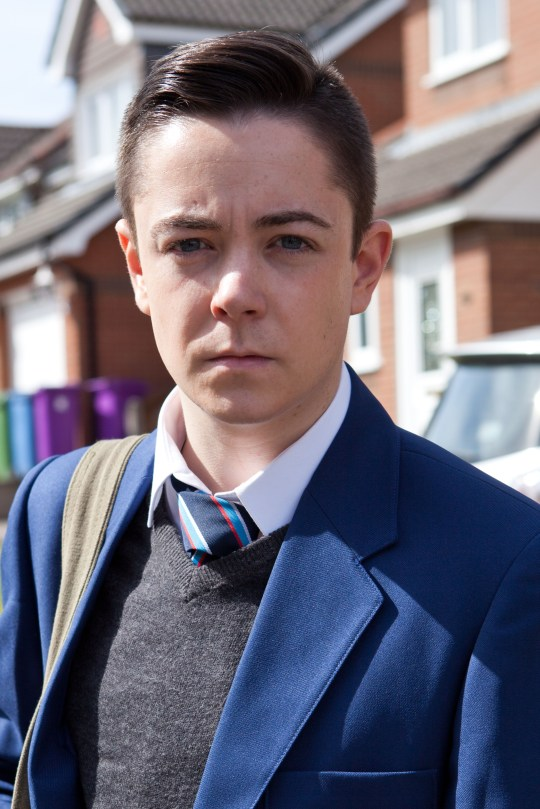 Rice as Finn O'Connor in Hollyoaks (Picture: Lime Pictures)