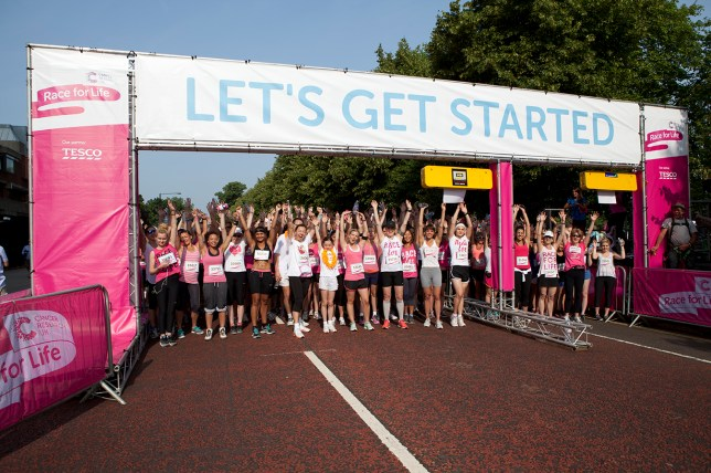 Race for Life starting line
