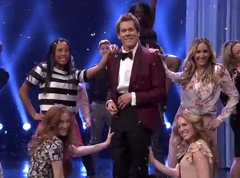 Kevin Bacon proves he's still got it with brilliant Footloose entrance on The Tonight Show