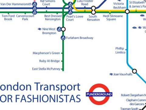 The London Tube map gets a fashion makeover