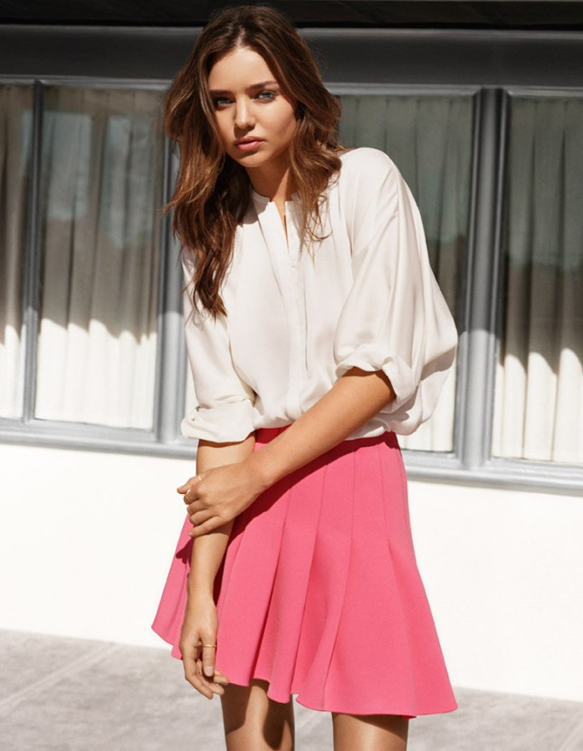 Miranda Kerr models one of our favourite looks from the new spring H&M collection (Picture: H&M)