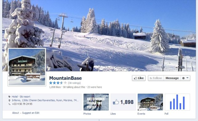 Taking the piste? MountainBase advertised the controversial offer on its Facebook page