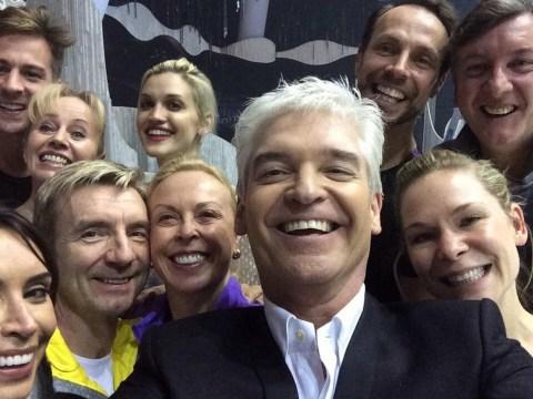 Phillip Schofield gathers Dancing On Ice stars to recreate Ellen DeGeneres' famous Oscars selfie