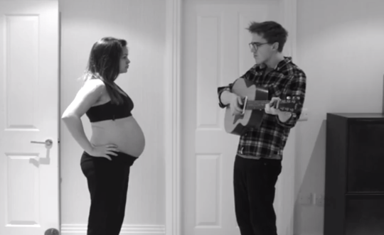 Tom Fletcher and his wife are in the running for cutest celeb couple ever (Picture: Youtube/Tom Fletcher)