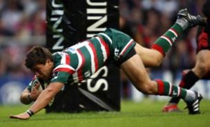 Leicester's Ben Youngs scores at Twickenham (PA)