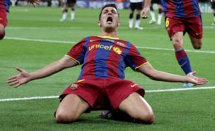 David Villa scored for Barcelona in the Champions League final (PA)