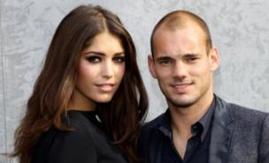 Wesley Sneijder's wife Yolanthe is keen to further her TV career (Getty Images)