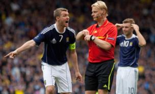 Scotland were furious with the referee's display (PA)