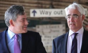 Gordon Brown and Alistair Darling had an uneasy relationship (Getty Images)