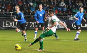 Robbie Keane scored the fourth from the penalty spot (PA)