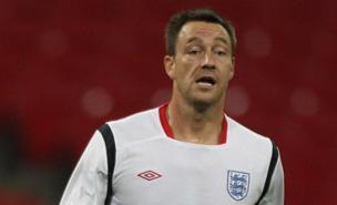 John Terry watched England beat Spain at Wembley (PA)