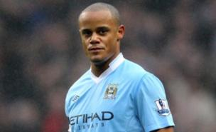 Vincent Kompany models his massive forehead (Getty Images)