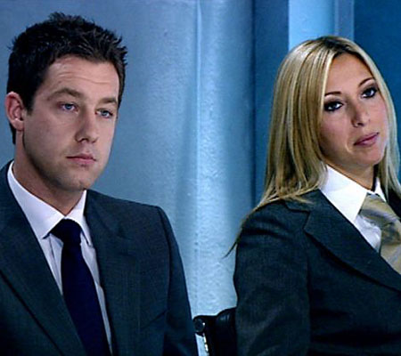 Kate Walsh with her beau Phil Taylor on The Apprentice