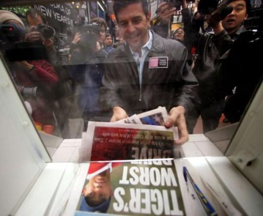2009 shredder Times Square