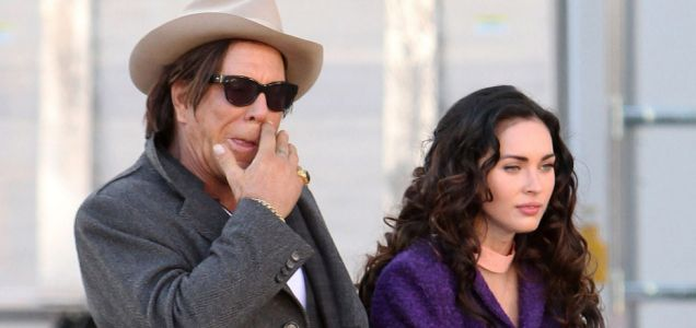 Megan Fox and Mickey Rourke spotted filming scenes for their new upcoming movie 'Passion Play'