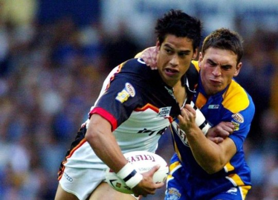 England call: Shontayne Hape, pictured playing for New Zealand in 2004