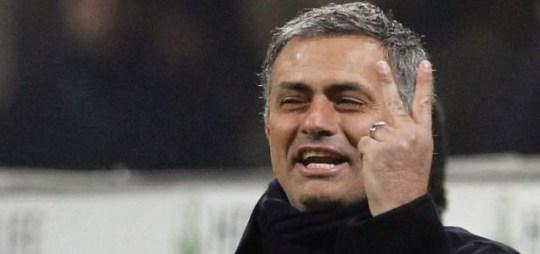 Inter Milan coach Jose Mourinho savours victory at the San Siro