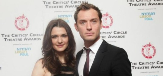 Rachel Weisz and Jude Law at The Critics' Circle Theatre Awards