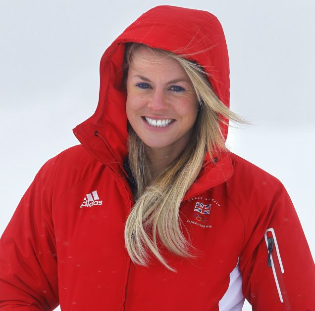 Chemmy Alcott, Britain's most successful female skier, trains at Canada Olympic Park in Calgary.