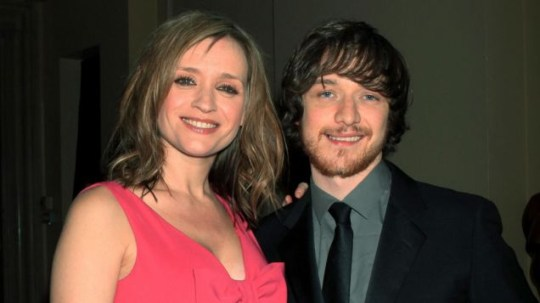 Anne-Marie Duff and James McAvoy attend the Evening Standard Film Awards