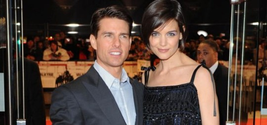 Tom Cruise with wife Katie Holmes