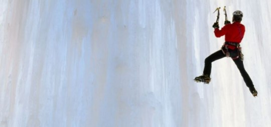 Ice-climbing Rockies