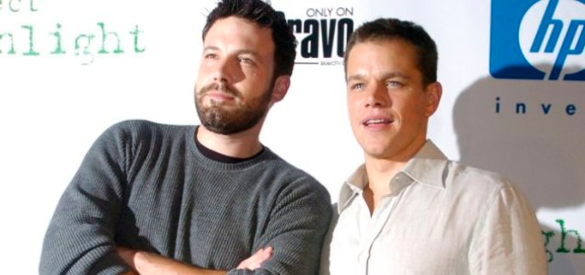 "Actors Ben Affleck, left, and Matt Damon, two of the creators of the documentary series ""Project Greenlight,"" arrive at a party to announce the winners of the third edition of the series in the Hollywood section of Los Angeles, Tuesday, July 13, 2004. A first-time director and first-time screenwriter were to be chosen from over 6,000 entries and awarded a budget of at least $1 million from Miramax Films to make a full-length feature. Bravo will air the filmmaking process in a documentary series beginning February 2005. (AP Photo/Chris Pizzello)"