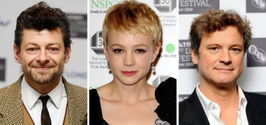 Andy Serkis, Carey Mulligan and Colin Firth