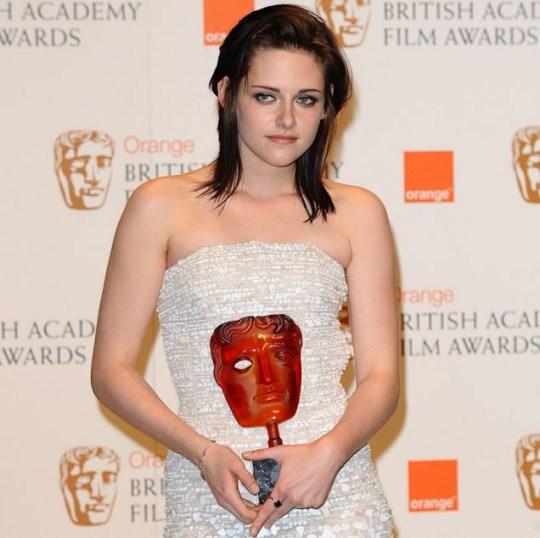 Twilight's Kristen Stewart with Bafta Award