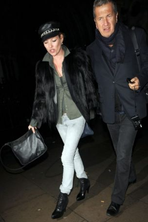 Kate Moss as she left Vivienne Westwood's show