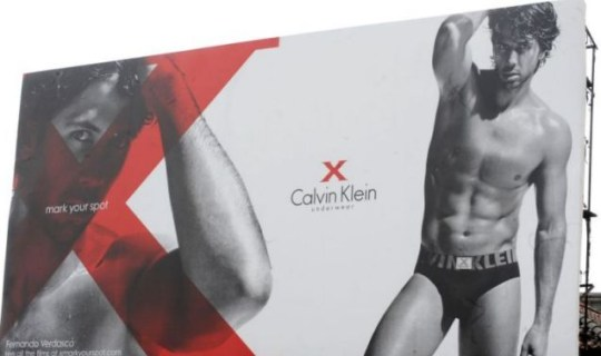 Fernando Verdasco models for Calvin Klein