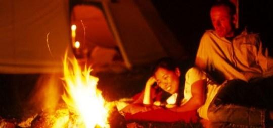 Tipi campfire