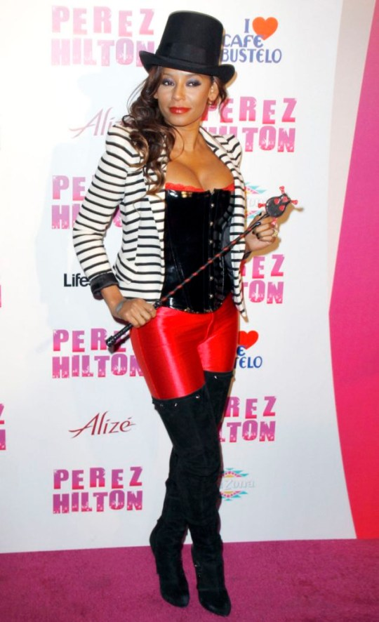 Mel B attends Perez Hilton's 32nd birthday bash