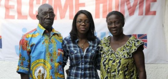 Judith (centre) with her parents, Pierre and Angela Ezalapa in The World's Most Dangerous Place For Women