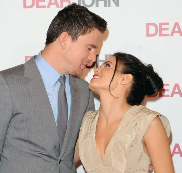 Channing Tatum and Jenna Dewan look loved up at the Dear John premiere