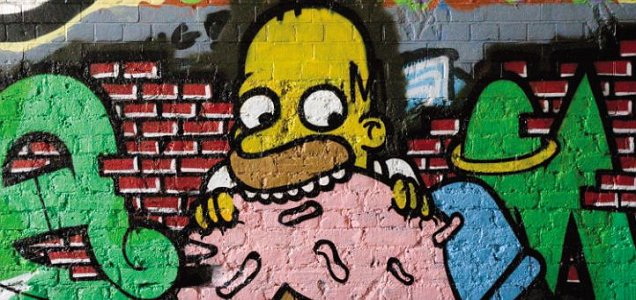 homer simpson graffiti