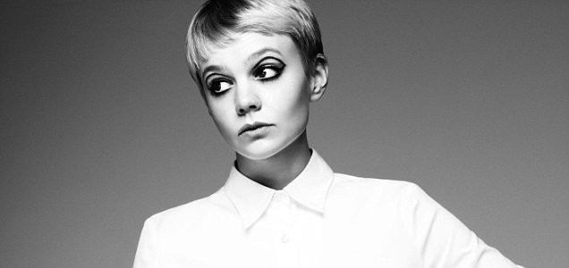 Twiggy-esque: Carey Mulligan pictured in the April/May 10 issue of Wonderland