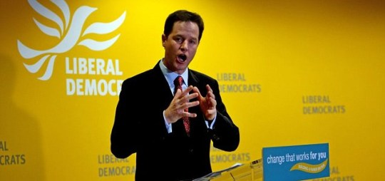 Nick Clegg has hit out at Labour and the Conservatives over their 'reformist' policies