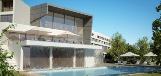 Water view: An artist's impression of  the Longevity Wellness Resort, in the Algarve, Portugal