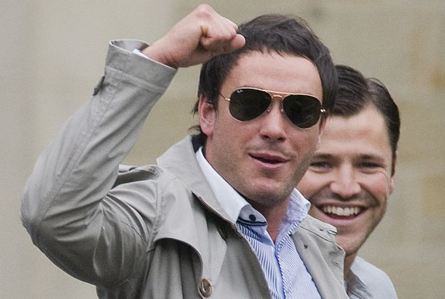 Vindicated: Jack Tweed walks from court after being cleared (Picture: Enterprise News)