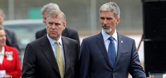 Prince Andrew the Duke of York and Damon Hill