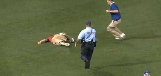 A Philadelphia fan is tasered by police