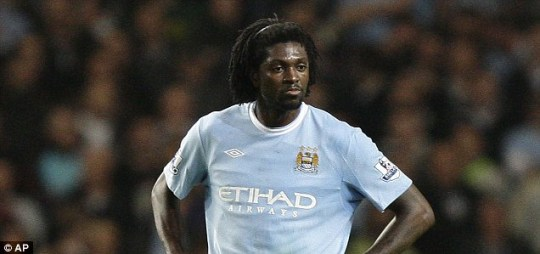 Could Emmanuel Adebayor be on his way out of Manchester City just one year on?