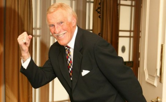 Bruce Forsyth presented on the BBC on election night