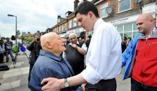 Campaign: David Miliband visits supporters in Harrow (Picture: Masons)