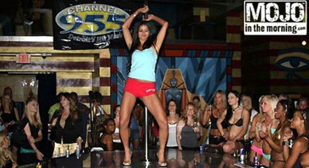 Miss USA 2010 Rima Fakih, pole dancing